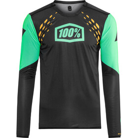 100% R-Core-X DH Jersey Heren, black/cyan